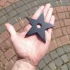 Pięcio 5 ramienny Kobori Ryu Gohagata shuriken ostry stalowy węglowy stal węglowa