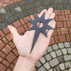 Araki Ryu shuriken ostry stalowy węglowy stal węglowa